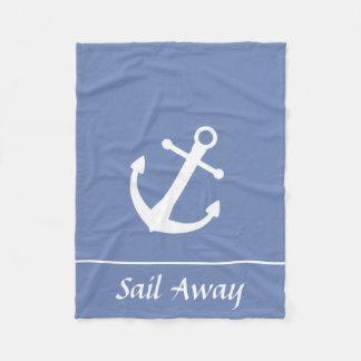 Manta náutica ausente de la vela azul y blanca
