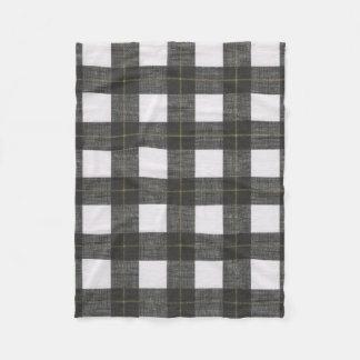 Manta negra del paño grueso y suave de la tela