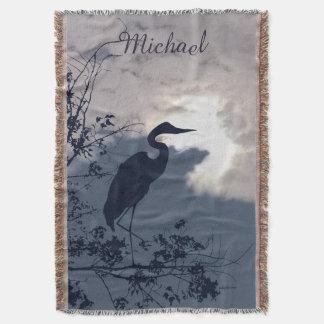 Manta Observación de pájaros azul de la puesta del sol