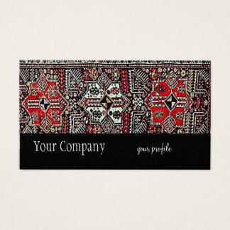 manta oriental roja blanca negra tarjeta de negocios