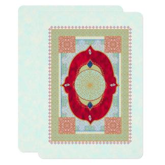 Manta oriental - tarjeta de la invitación
