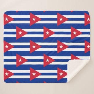 Manta patriótica de Sherpa con la bandera de Cuba