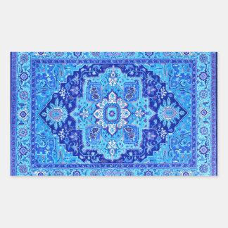 Pegatinas alfombra persa adhesivos for Alfombra persa azul