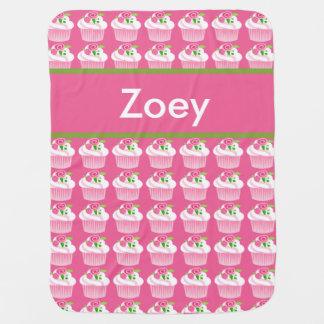 Manta personalizada de la magdalena de Zoey
