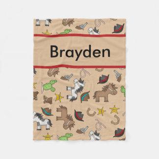 Manta personalizada del vaquero de Brayden