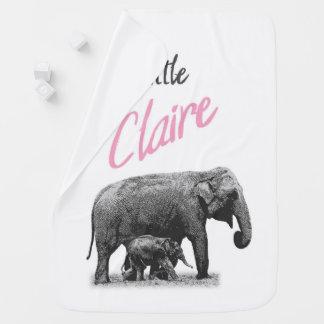 """Manta personalizada """"pequeña Claire """" del bebé"""