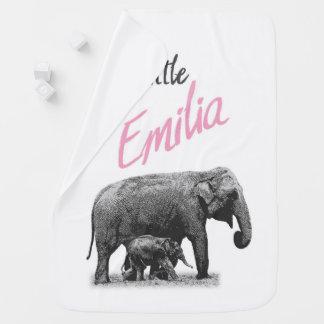 """Manta personalizada """"pequeña Emilia """" de la niña"""