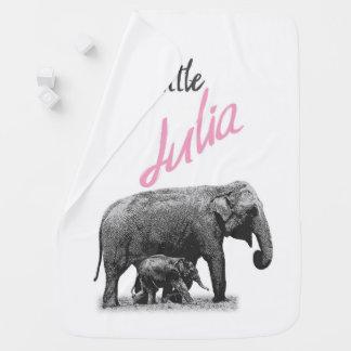 """Manta personalizada """"pequeña Julia """" de la niña"""