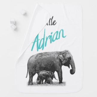 """Manta personalizada """"pequeño Adrian """" del bebé"""
