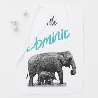 """Manta personalizada """"pequeño Dominic """" del bebé"""