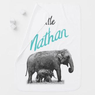 """Manta personalizada """"pequeño Nathan """" del bebé"""