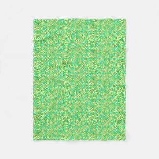 Manta Polar Amarillo irlandés del verde del modelo de la