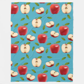 Manta Polar Apple rojo modela