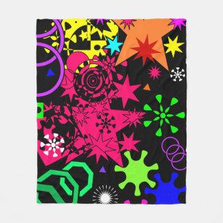 Manta Polar Arte abstracto geométrico colorido personalizado