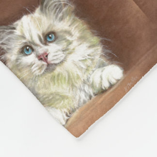 Manta Polar Arte del gatito de Ragdoll
