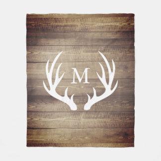 Manta Polar Astas de madera de los ciervos del granero rústico