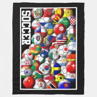 Manta Polar Balones de fútbol del mundo