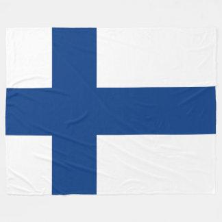 Manta Polar Bandera de la bandera cruzada azul de Finlandia