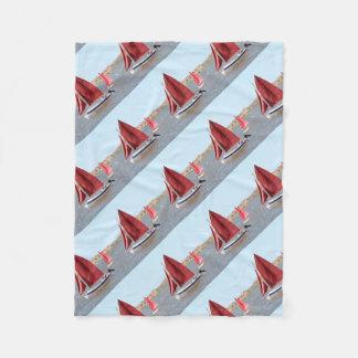 Manta Polar Barco de vela de madera