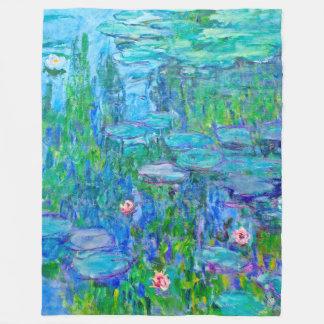 Manta Polar Bella arte fresca de Monet de la charca del lirio