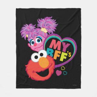 Manta Polar BFF Abby y Elmo