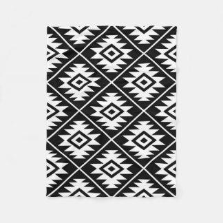 Manta Polar Blanco grande estilizado de Ptn del símbolo azteca