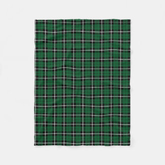 Manta Polar Blanco verde irlandés verde/raya negra de Kelly