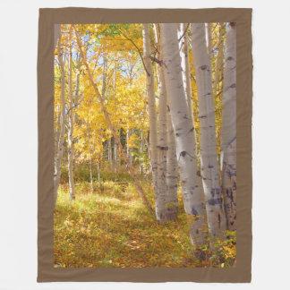 Manta Polar Calentador del revestimiento de maderas del otoño