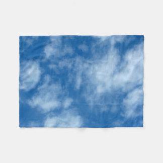 Manta Polar Cielo azul con la foto de las nubes