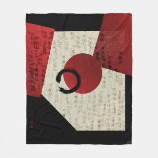 Manta Polar Círculo de Ensō del zen con potencial del kanji