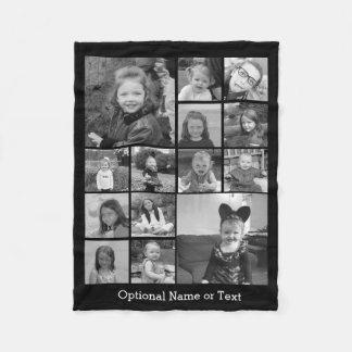 Manta Polar Collage de la foto de Instagram - hasta 14 fotos