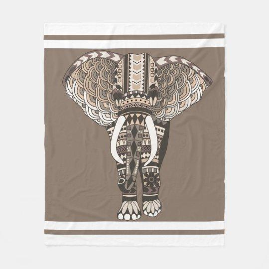 Manta Polar Colores de color topo neutrales del elefante