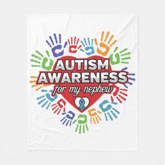 Manta Polar Conciencia del autismo para mi sobrino