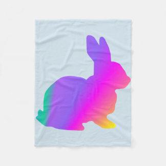Manta Polar Conejo del arco iris