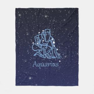 Manta Polar Constelación del acuario y muestra del zodiaco con