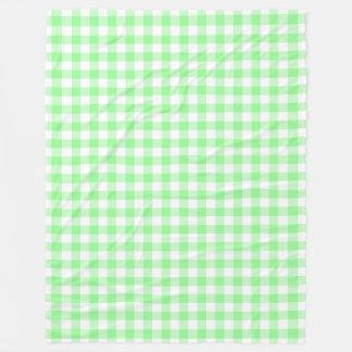 Manta Polar Controles verdes y blancos en colores pastel