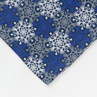 Manta Polar Copos de nieve del invierno de la MOD azules y