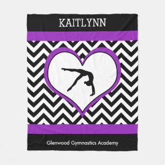 Manta Polar Corazón de Chevron de la gimnasia con el monograma