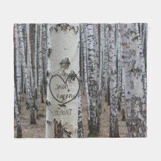 Manta Polar Corazón tallado rústico personalizado del país