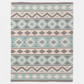 Manta Polar Crema verde azulada de color topo azteca de Ptn