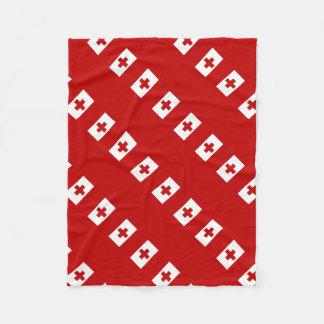 Manta Polar Cruz Roja de la bandera de la isla de Tonga