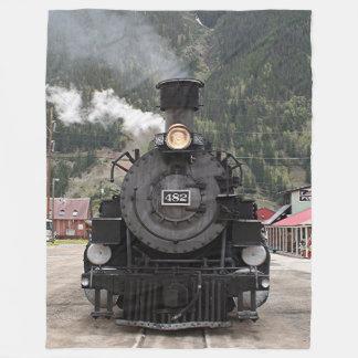 Manta Polar Cueza el motor del tren al vapor, Silverton,