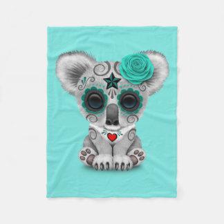 Manta Polar Día azul de la koala muerta del bebé