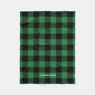 Manta Polar Día de fiesta verde rústico del modelo de la tela