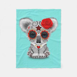 Manta Polar Día rojo de la koala muerta del bebé