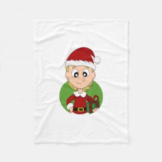 Manta Polar Dibujo animado del chica del navidad