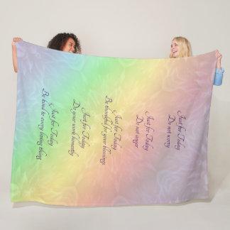 Manta Polar Diseño de la mandala del arco iris de los