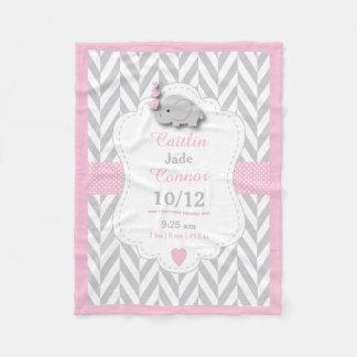 Manta Polar Diseño del recuerdo del nacimiento del elefante
