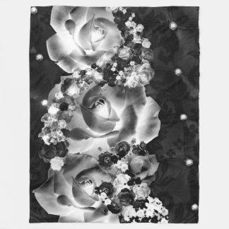 Manta Polar Docena rosas