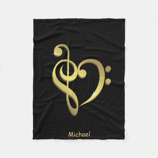 Manta Polar El corazón de la música del clef agudo y del clef